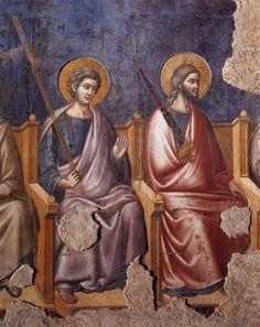 Pietro Cavallini, Apostles from the Last Judgment (detail), basilica di Santa Cecilia in Trastevere