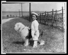 C.1914 Boy in Sailor Suit.Outfit with Dog Vincent by GalleryLF