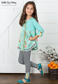 Matilda Jane with Joanna Gaines: Pecan Pie Top and Haystack Leggings - Both 4 Pretty Outfits, Cute Outfits, Stylish Kids, Alter, Clothing Patterns, Baby Dress, Kids Outfits, Kids Fashion, Tunic Tops