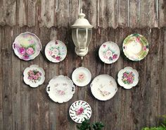 What to do with recycled dishes and china in the garden?   Flea Market Gardening