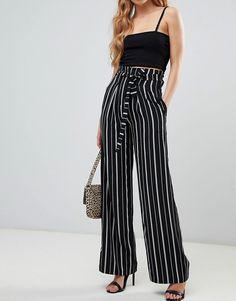 a7d0aba62561 28 Best black wide leg trousers images in 2019 | Party dresses ...