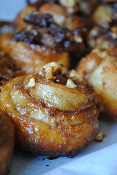 This sticky buns recipe from Ina Garten will give you the flakiest, best tasting breakfast or brunch treat you can imagine. Chef Recipes, Food Network Recipes, Baking Recipes, Dessert Recipes, Recipies, Best Ina Garten Recipes, Ina Garten Scones Recipe, Chefs, Delicious Desserts