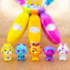 Wave 1 Bananas collection is retiring soon! Hope you've got ultra-rare Crushie Gail 🦒, rare Lucy 🐆, Pipo 🐼, Andrew 🐒, and Pi 🦄! Click link to shop now. Also available at Walmart and Target. #bananascollectibles #bananastoys #crushietoys Banana Toy, Crunch Wrap, Go Bananas, Collectible Toys, Supreme, Maya, Walmart, Target, Space