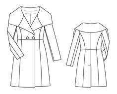 Numer Wzór 111 Magazyn 11/2014 Burda - - płaszcze wyposażone sylwetka wzór płaszcz Burdastyle.ru