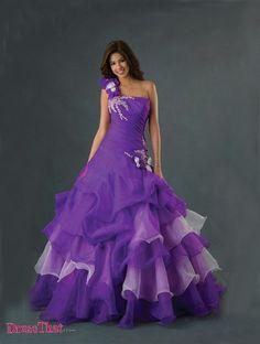 Organza Purple Quinceanera Dresses, Quinceanera dress