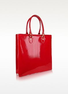 c1dd8c07dbf08 L.A.P.A. Ruby Red Patent Leather Tote Bag