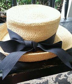 ANNABEL INGALL Straw Hat Australia with Black Ribbon  #AnnabelIngall