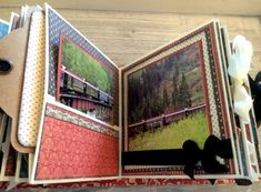 Alaska Mini Album, Cityscapes, Square Tag _ Pocket Album - Red Numbers, by…