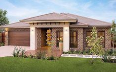 Simonds Homes - Riverview Bungalow House Design, House Front Design, Small House Design, Modern Brick House, Modern House Design, Contemporary House Plans, Modern House Plans, Dream House Exterior, Exterior House Colors
