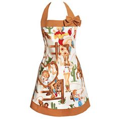 Cowgirl Pin-Up Apron, 32€, now featured on Fab.
