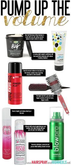 The Best Volume Products! Get big hair at home! #hair #beautytips