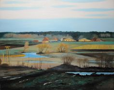 Fields in March Moltas Stopyra Oil Painting 65x54 cm