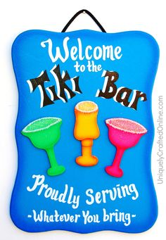 Funny+Wood+Bar+Sign++Welcome+to+the+Tiki+by+UniquelyCraftedSigns,+$16.95