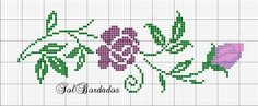 Lovely for a border Cross Stitch Bookmarks, Mini Cross Stitch, Cross Stitch Borders, Simple Cross Stitch, Cross Stitch Rose, Cross Stitch Flowers, Cross Stitch Charts, Cross Stitch Designs, Cross Stitching