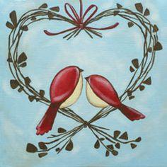 Social Artworking Canvas Painting Design - Love Wreath