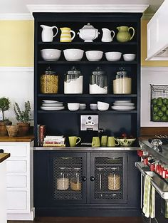 paint green book case black for kitchen storage & floor to ceiling cupboards | Artsy Dream Home | Pinterest | Cupboard ...