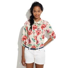 madewell • floral shirt wore once Madewell Tops Button Down Shirts