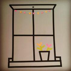 Washitapera: Cómo hacer una ventana dibujada con washi tape