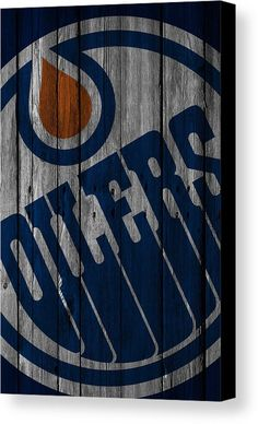 Oilers Canvas Print featuring the digital art Edmonton Oilers Wood Fence by Joe Hamilton Hockey Room, Hockey Teams, Wood Canvas, Canvas Art, Canvas Prints, Hockey Cakes, Joe Hamilton, Hockey Stuff, Edmonton Oilers