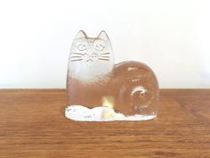 Lisa Larson Cat for Royal Krona Sweden Glass by SpruceHouseVintage