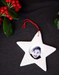 DIY salt dough picture frame ornaments