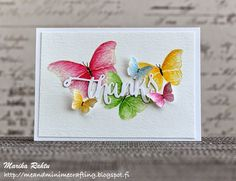Me and Minime crafting -Thank you card with Flora and Fauna2 by Wplus9