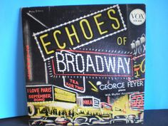 Vintage Broadway Record - Echoes of Broadway - George Feyer by on Etsy I Love Paris, Piano, 1950s, Broadway, Songs, Vintage, Etsy, Pianos, Vintage Comics