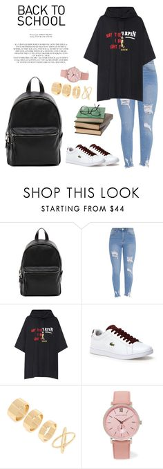 """""""Back to School"""" by windrasiregar on Polyvore featuring French Connection, Vetements, Lacoste, Rachel, Forever 21 and Larsson & Jennings"""