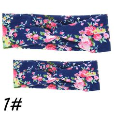 2Pc/Set Mama Mother & Baby Twisted Cross Braiders Floral BowKnot Turban Head Wrap Hair Braider Accessories Styling