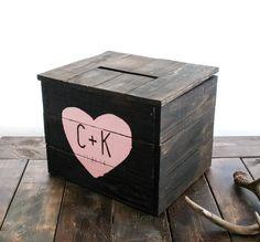 Rustic Wedding Card Box by pixelsandwood on Etsy