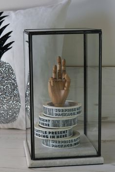 Would look amazing with an artificial bird or flower. Amabyss - White Marble Showcase, £76.00 (http://www.amabyss.com/white-marble-showcase/)