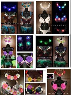Design your own Rave Bra, Rave Outfit, Festival Bra, Electric Daisy Carnival, EDC, Daisy Bra, Ultra, Tomorrowworld, Halloween Costume