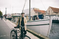 Cycling in Copenhagen with Andreas Jarner.