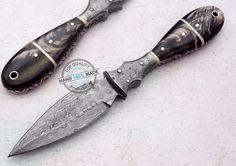 "8.90"" Custom Hand Made Beautiful Damascus steel Dagger Knife (AA-0137-7)"
