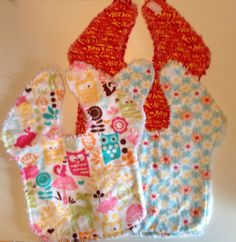 Flannel Reversible Rag Bibs by AnnsBabyBoutique on Etsy, $5.99