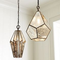 Light it up with a hint of global glamour. Our Chevelle Pendants are hand welded of metal with coppery mercury glass panes that cast a warm inviting glow. Use with our Vintage Bulbs (sold separately) for the best look. Chevelle Pendant features:  Mix & match shapes  Stagger heights for an eclectic look