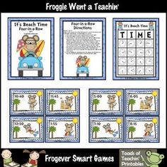 Skills: Children will practice telling time by 5 minute intervals.Grade Level: First Grade through Third Grade, Special Education, ESLYou w...
