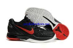 d6d99fb05b81 Nike Zoom Kobe VI 436311 001 Black Red White Kobe 6 Shoes