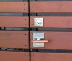 Emtek Modern Square Stainless Steel Deadbolt for very thick doors and gates, Item# S50003