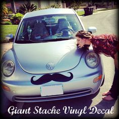 Giant Car Mustache Vinyl Decal  The Handlebar by ImSeriouslyJoking, $13.00    Kinda really want this. Kinda.