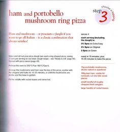 Ham & portobello mushroom ring pizza Slimming World Pizza, Portobello, Prosciutto, Ham, Stuffed Mushrooms, Ring, Stuff Mushrooms, Rings, Hams