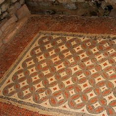Roman Mosaics, Chedworth, England.