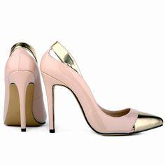 Shoespie Office Wear Cap Toe Colorblocked Stileto Heels