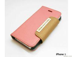 Trendy Practical iPhone5 Natural Cowhide Leather Card Bill Slots Wallet Case T/N