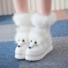 nice Shoespie Cartoon Image Snow Boots