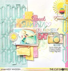 Little Nugget Creations: Sweet Sunny Summer Day / The Cut Shoppe & Page Maps!