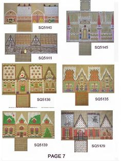 mini prints - Christmas cottages from Gail Hendrix (squigee) Paper Doll House, Paper Houses, Miniature Christmas, Christmas Crafts, Christmas Tale, Paper Toys, Paper Crafts, House Template, Putz Houses
