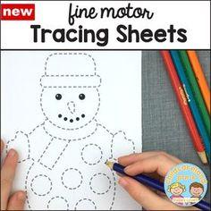 fine motor tracing sheets download for preschool and kindergarten