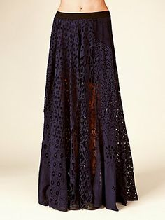 FP ONE Patchwork Lace Maxi Skirt - $400 but I bet it could be duplicated.
