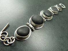 Beachstone Sterling Silver Bracelet Rustic by fentondesign